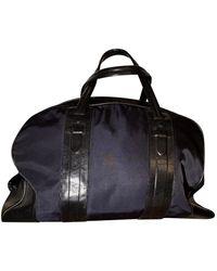 Neil Barrett Blue Leather Bag