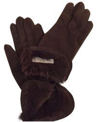 Dior Leder Handschuhe - Braun