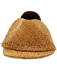 Burberry - Linen Hat - Lyst