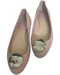 Dior   Pre-owned Leather Ballet Flats   Lyst