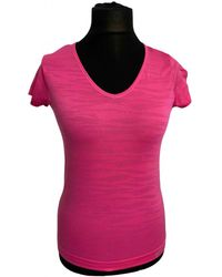 Nike - Top Polyester Rosa - Lyst