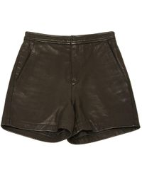 BLK DNM - Black Leather Shorts - Lyst