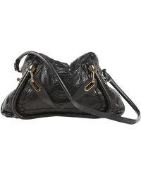 Chloé Paraty Black Python Handbag