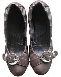 Dior Leder Ballerinas - Braun