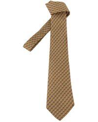 Hermès - Green Silk Ties - Lyst