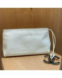 Chanel - White Leather Travel Bag - Lyst