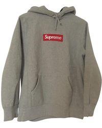 Supreme Pullover&Sweatshirt Baumwolle Grau