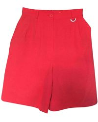 Dior Vintage Red Wool Shorts