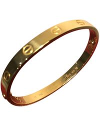 Cartier - Love Gold Yellow Gold Bracelets - Lyst