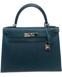 Hermès Kelly 28 Leder Handtaschen - Grün