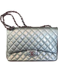Chanel - Timeless Turquoise Patent Leather Handbag - Lyst