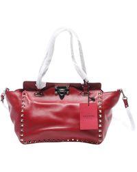 Valentino Rockstud Leder Handtaschen - Rot
