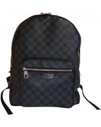 Louis Vuitton Josh Backpack Leinen Taschen - Schwarz