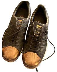 adidas Superstar Leder Sneakers - Schwarz