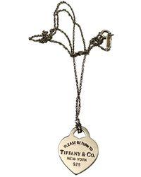 Tiffany & Co. Return To Tiffany Silver Necklace - Gray