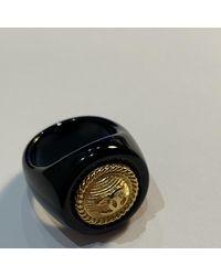 Chanel Anello in placcato oro nero