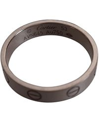 Cartier Love White Gold Ring - Gray