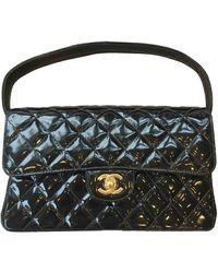 Chanel Timeless/classique Lackleder Handtaschen - Schwarz
