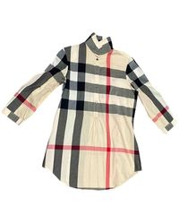 Burberry Beige Cotton Top - Natural