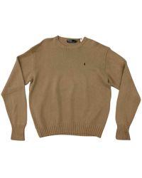 Polo Ralph Lauren - Camel Cotton Knitwear & Sweatshirt - Lyst