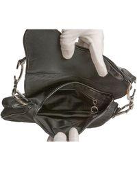 Dior Borsa a mano in tela nero Saddle