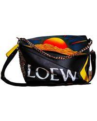 Loewe Puzzle Leder Taschen - Schwarz