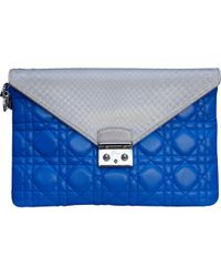 2191687d7c4b Lyst - Dior Cannage Quilted Lambskin Miss Promenade Pouch Clutch Bag ...