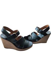 A.P.C. Leather Sandals - Blue