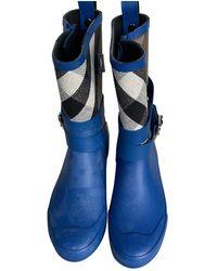 Burberry Bottes en Caoutchouc Bleu