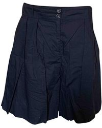 Woolrich Shorts in Cotone Marina - Blu
