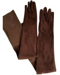 Givenchy Brown Leather Gloves