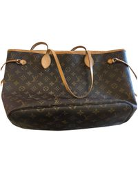 Lyst - Louis Vuitton M 40155 Neverfull Pmtote Bag Brown ... 0378798602c84