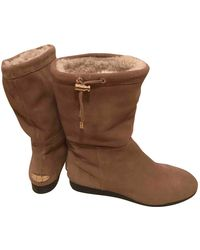 Michael Kors Leather Boots - Natural