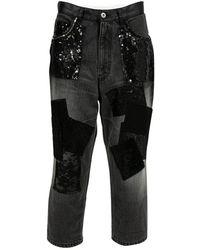 Junya Watanabe Jeans in cotone grigio