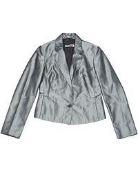 Jil Sander - Grey Silk Jacket - Lyst