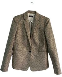 JOSEPH Gold Cotton Jacket - Metallic