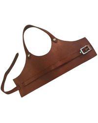 Maison Margiela Leather Bracelet - Brown