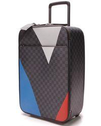 Louis Vuitton Pegase Blue Cloth Bag