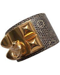 Hermès Collier De Chien - Lizard Bracelets - Multicolour