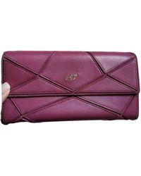 Roger Vivier Leather Wallet - Purple