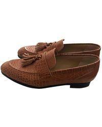 Junya Watanabe Leather Flats - Brown