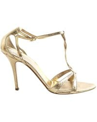 Max Mara - Pre-owned Leather Sandals - Lyst