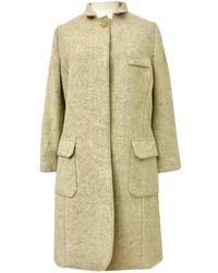 Brunello Cucinelli - Beige Wool Coat - Lyst