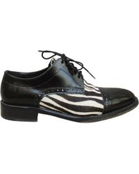 The Kooples - Pre-owned Black Pony-style Calfskin Lace Ups - Lyst