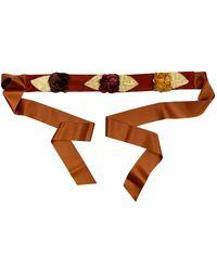 Blumarine Camel Belts - Brown