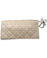 Dior Lady Seide Clutches - Natur