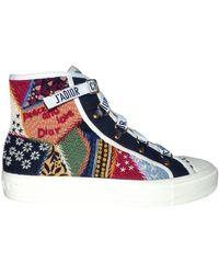 Dior Walk 'n' Leinen Sneakers - Blau