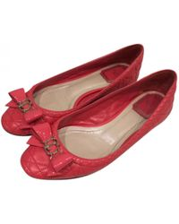 Dior - Pre-owned Leather Ballet Flats - Lyst