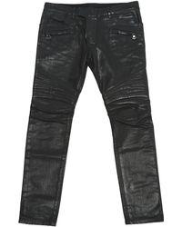Balmain - Black Cotton - Elasthane Jeans - Lyst