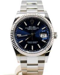 Rolex - Reloj en acero azul Datejust 36mm - Lyst